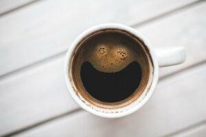 smilende espresso kaffe