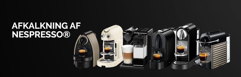 Afkalkning af Nespresso kaffemaskiner